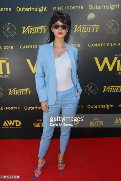 Betty Bachz attends as WIFT International with Variety Alliance of Women Directors host a cocktail party during the 71st Cannes Film Festival...