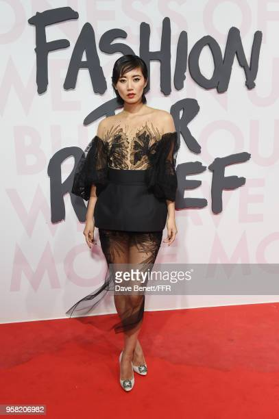 Betty Bachz attends Fashion for Relief Cannes 2018 during the 71st annual Cannes Film Festival at Aeroport Cannes Mandelieu on May 13 2018 in Cannes...