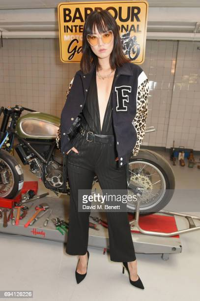 Betty Bachz attends the Barbour International presentation during the London Fashion Week Men's June 2017 collections on June 9 2017 in London England