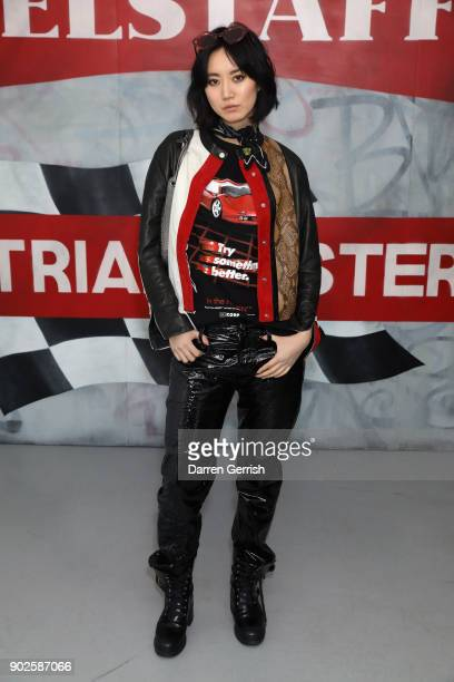 Betty Bachz attends the Belstaff AW18 Mens Womens Presentation during London Fashion Week Men's January 2018 on January 8 2018 in London England