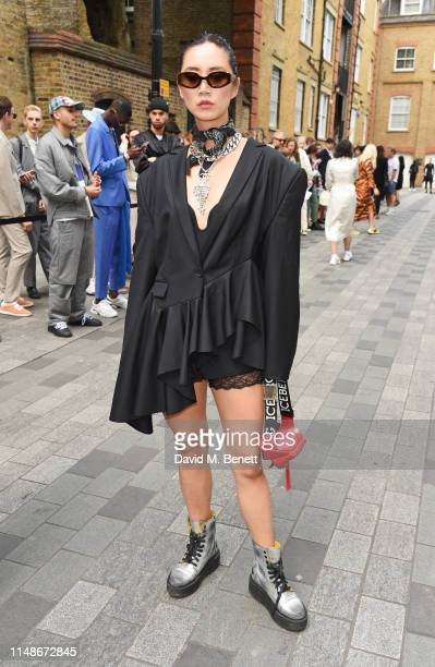 Betty Bachz attends the Chalayan show during London Fashion Week Men's June 2019 at the Chalayan Store on June 9 2019 in London England