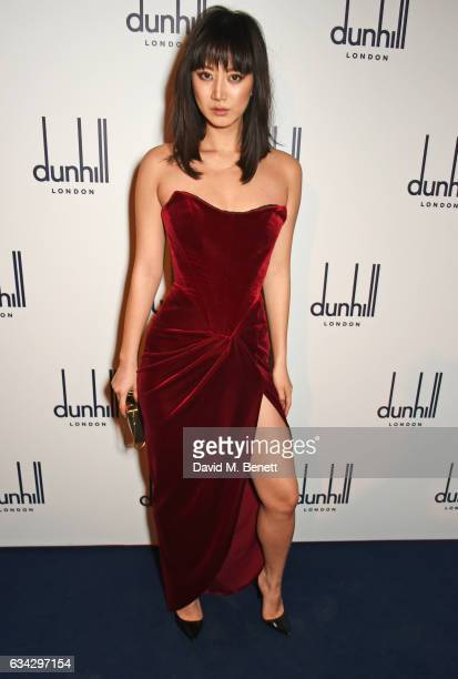 Betty Bachz attends the dunhill and Dylan Jones preBAFTA dinner and cocktail reception celebrating Gentlemen in Film at Bourdon House on February 8...
