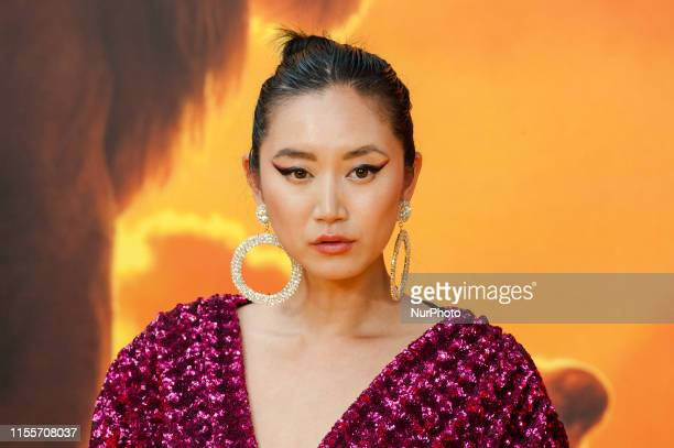 Betty Bachz attends the European film premiere of Disney's 'The Lion King' at Odeon Luxe Leicester Square on 14 July, 2019 in London, England