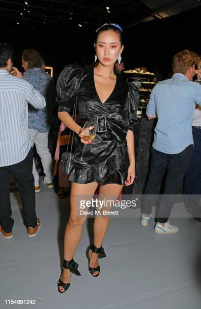 Betty Bachz attends the Lenny Kravitz Dom Perignon 'Assemblage' exhibition the launch Of Lenny Kravitz' UK Photography Exhibition on July 10 2019 in...