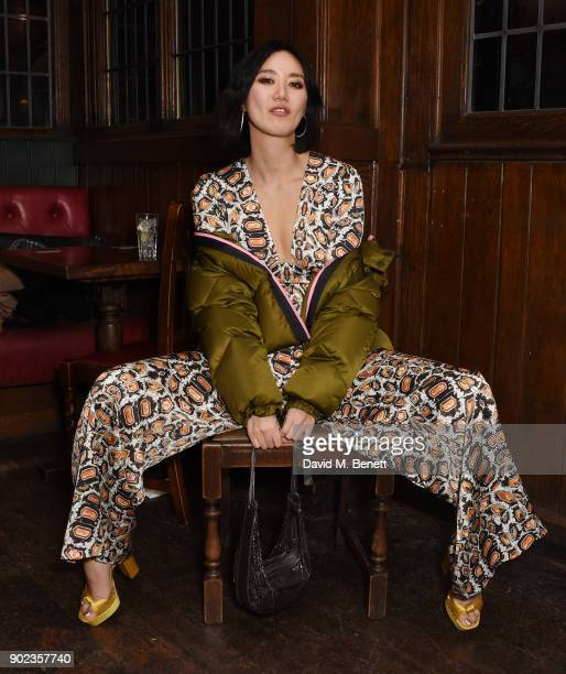 Betty Bachz attends the LFWM Official Party Pub LockIn during London Fashion Week Men's January 2018 at The George on January 7 2018 in London England