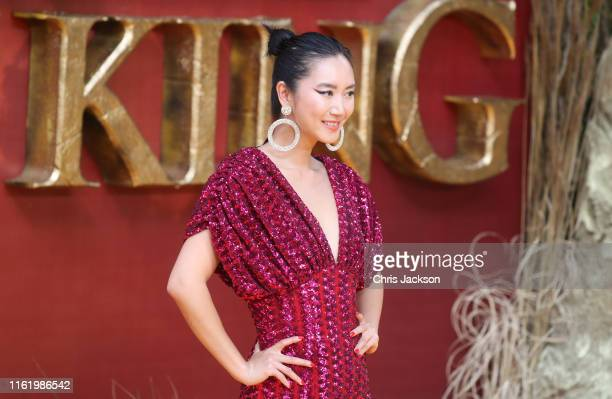 """Betty Bachz attends """"The Lion King"""" European Premiere at Leicester Square on July 14, 2019 in London, England."""