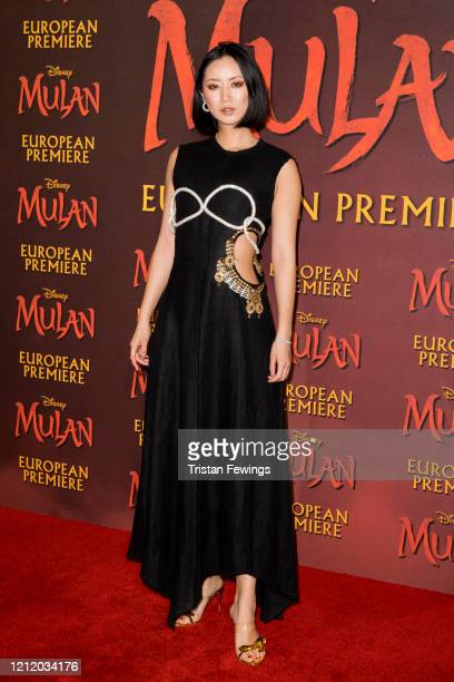 Betty Bachz attends the Mulan European Premiere at the Odeon Luxe Leicester Square on March 12 2020 in London England