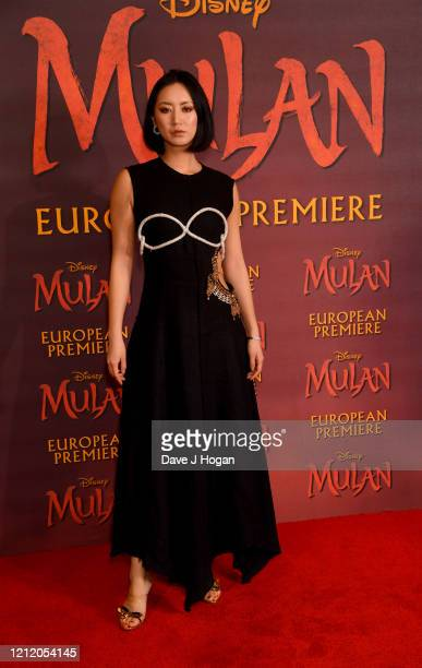 Betty Bachz attends the Mulan photocall at Trafalgar Hotel on March 13 2020 in London England