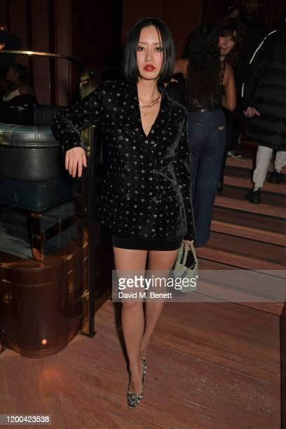 Betty Bachz attends the NME Awards after party in association with Copper Dog at The Standard on February 12 2020 in London England