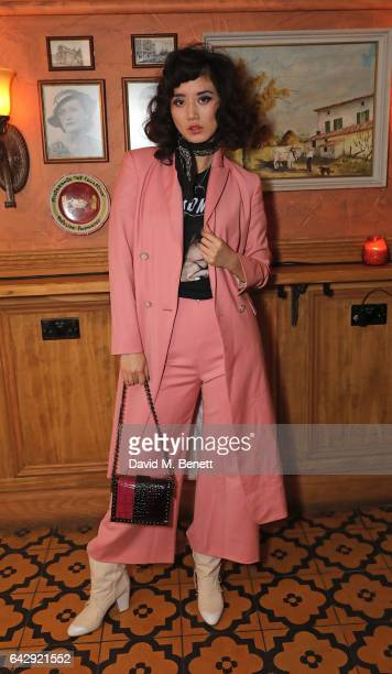 Betty Bachz attends the Pam Hogg aftershow party during the London Fashion Week February 2017 collections at Bunga Bunga on February 19 2017 in...