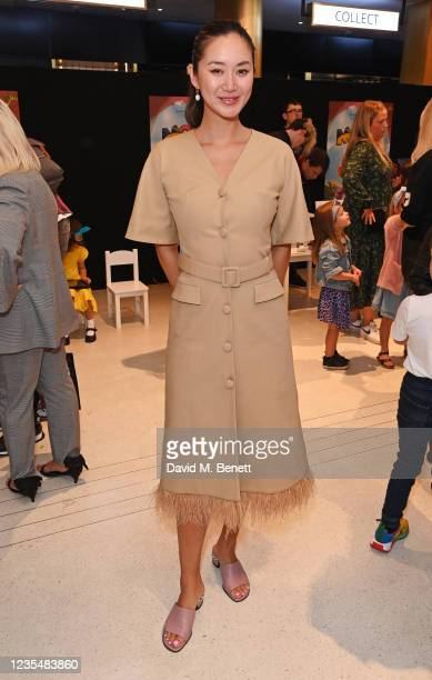 """Betty Bachz attends the red carpet premiere of new animated children's series """"Moley"""" at Odeon Luxe Leicester Square on September 25, 2021 in London,..."""