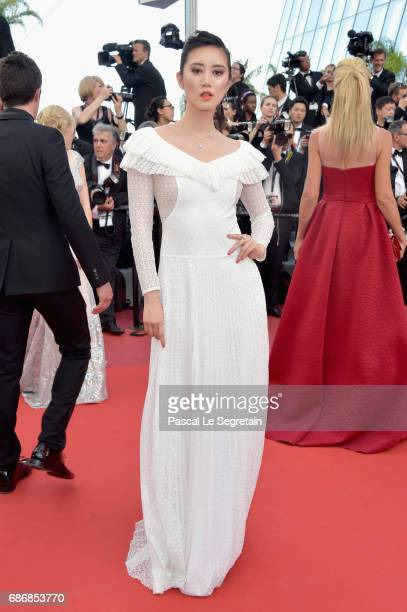 Betty Bachz attends the The Killing Of A Sacred Deer screening during the 70th annual Cannes Film Festival at Palais des Festivals on May 22 2017 in...