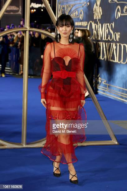 Betty Bachz attends the UK Premiere of Fantastic Beasts The Crimes Of Grindelwald at Cineworld Leicester Square on November 13 2018 in London England