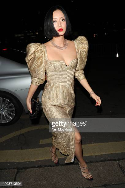 Betty Bachz attends the Vogue x Tiffany Fashion Film after party for the EE British Academy Film Awards 2020 at Annabel's on February 02 2020 in...