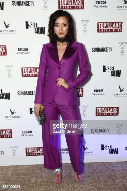 Betty Bachz attends Top of the Lake China Girl screening afterparty at Versini Cannes in partnership with Grey Goose at Versini Five Seas Hotel on...