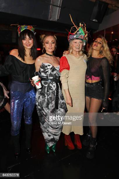 Betty Bachz Clara Paget Dame Vivienne Westwood and Alice Dellal attend Dame Vivienne Westwood and James Jagger's Mad Max party in aid of climate...