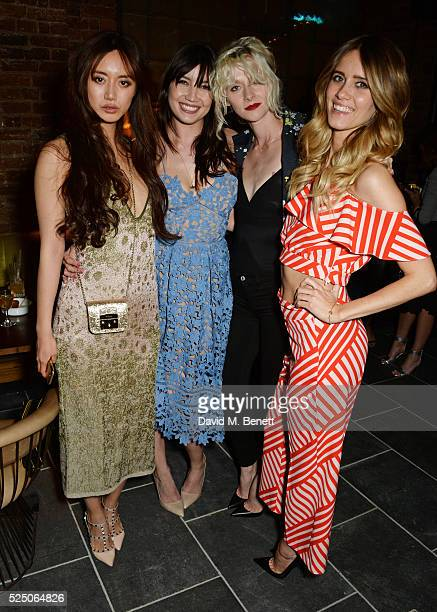 Betty Bachz Daisy Lowe Portia Freeman and Jade Williams attend the launch of Restaurant Ours in Kensington on April 27 2016 in London England