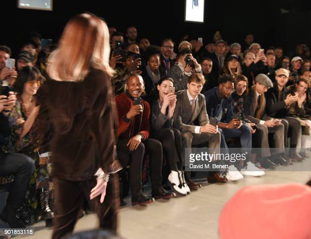 Betty Bachz Eric Underwood Erin OÕConnor Toby HuntingtonWhiteley Jesiah Sampson Hector Bellerin Ollie Proudlock and Jim Chapman sit in the front row...