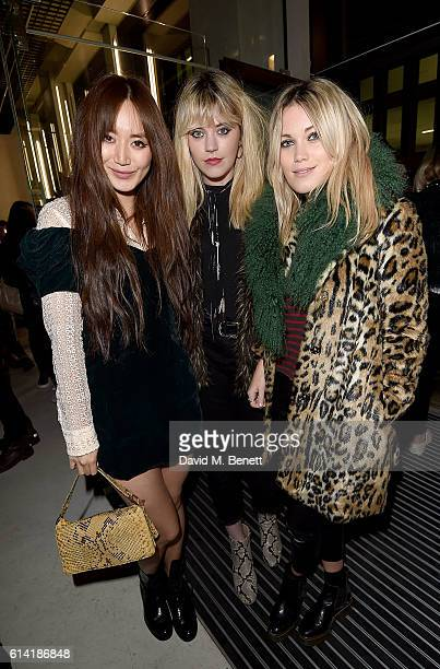 Betty Bachz guest and Kara Rose Marshall attend the Axel Arigato London store launch on October 12 2016 in London England