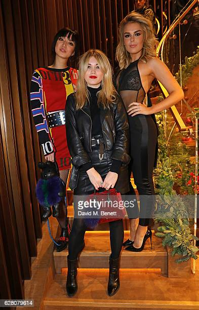Betty Bachz Kara Marshall and Tallia Storm attend MCM's London Flagship Opening Party on December 6 2016 in London England