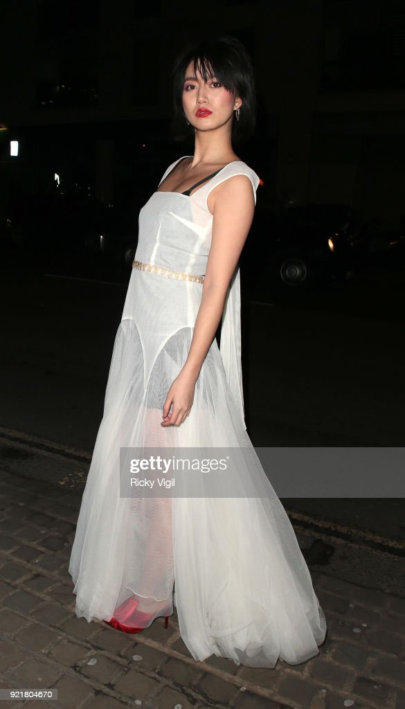 Betty Bachz seen attending the London Fabulous Fund Fair at Roundhouse during LFW February 2018 on February 20, 2018 in London, England.