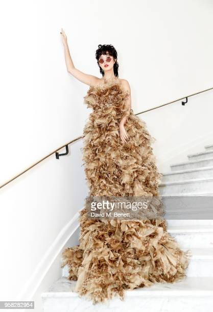 Betty Bachz wearing Ong at the Hotel Martinez during the 71st Annual Cannes Film Festival on May 14 2018 in Cannes France