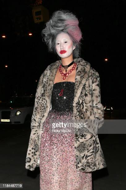 Betty Batchz seen attending UNICEF Halloween Ball event at One Marylebone on October 30 2019 in London England