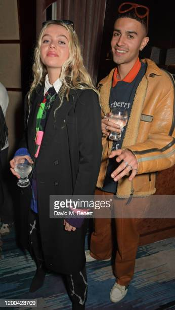 Betty Belle and Elias Riadi attend the NME Awards after party in association with Copper Dog at The Standard on February 12 2020 in London England