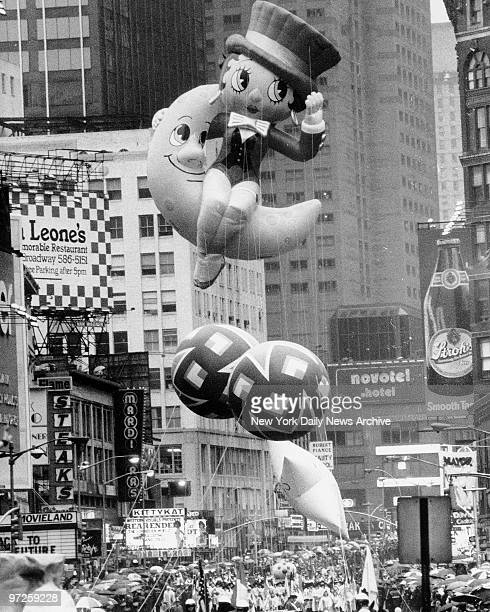 Betty Boop a new kid on the block makes her Times Square debut riding a crescent moon in the Macy's Thanksgiving Day Parade