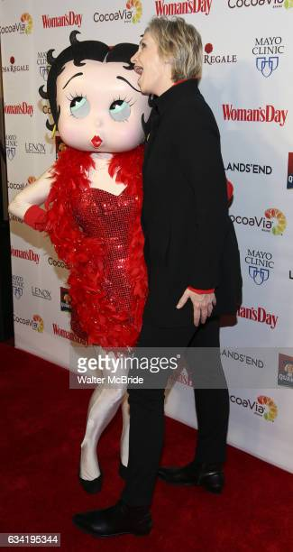 Betty Boop and Jane Lynch attend the 14th Annual Red Dress Awards presented by Woman's Day Magazine at Jazz at Lincoln Center Appel Room on February...