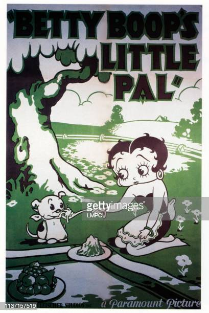 Betty Boop's Little Pal, poster, from left: Pudgy, Betty Boop, 1934.