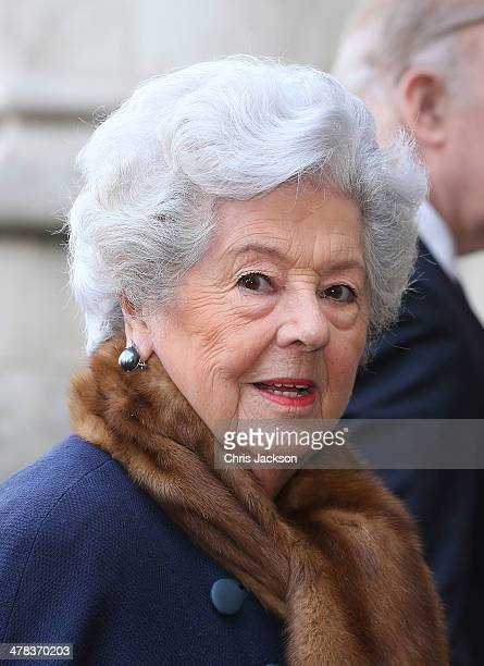 Betty Boothroyd attends a memorial service for Sir David Frost at Westminster Abbey on March 13 2014 in London England