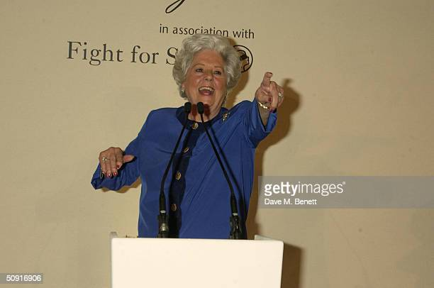 Betty Boothroyd attends a party celebrating the June 7 publication of the new coffeetable book Claridge's Within The Image by renowned British...
