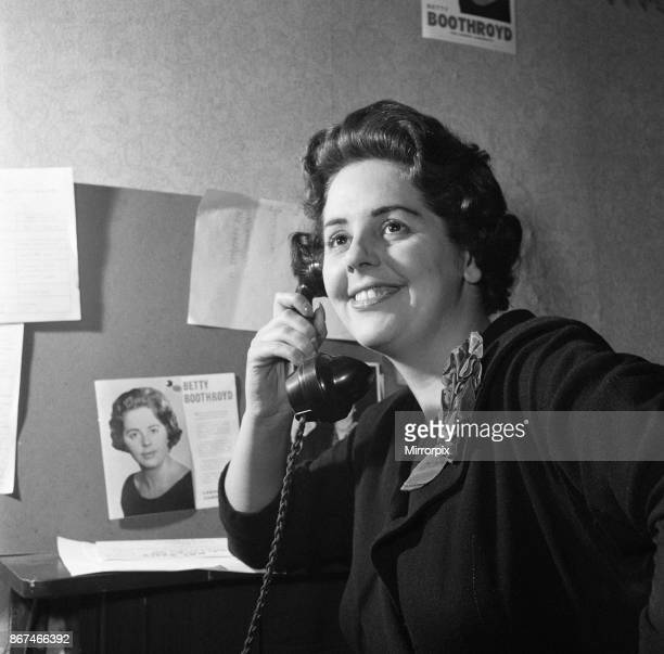 Betty Boothroyd canvassing 25th November 1957
