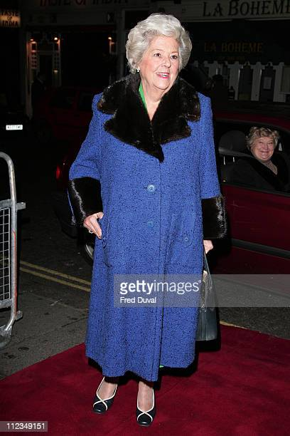 Betty Boothroyd during An Evening for Mo and Friends to Remember Mo Mowlam November 20 2005 at Theatre Royal Drury Lane in London Great Britain