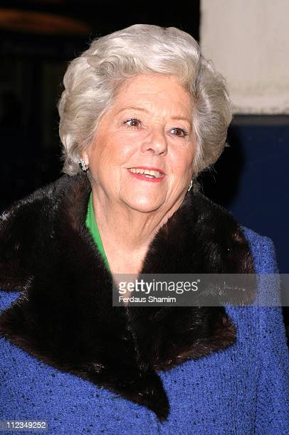 Betty Boothroyd during An Evening for Mo and Friends to Remember Mo Mowlam November 20 2005 at Theatre Royal in London Great Britain