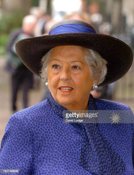 Betty Boothroyd during Memorial Service for Lord Callaghan at Westminster Abbey in London Great Britain