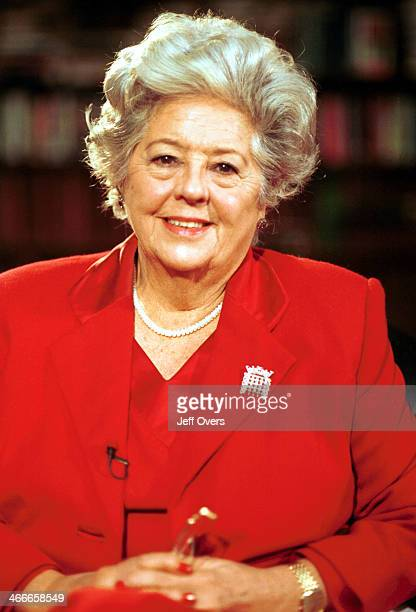 Betty Boothroyd Ex Labour MP and Speaker of the House of Commons