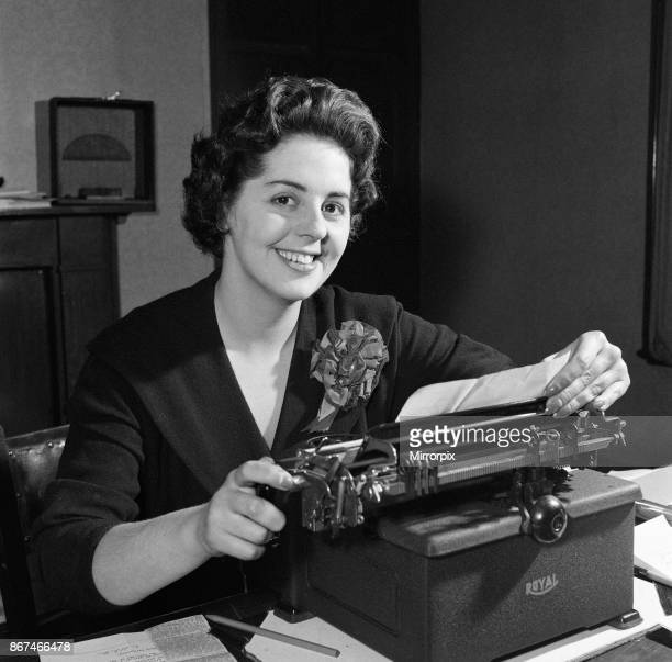 Betty Boothroyd in her office 25th November 1957
