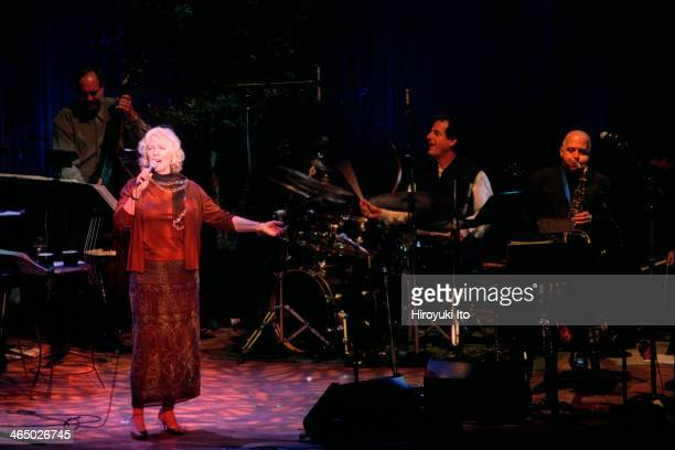 Betty Buckley performing at Alice Tully Hall on September 19 2001This imageFrom left Tony Marino Betty Buckley Jamey Haddad and Billy Drews