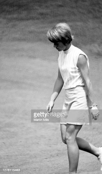 Betty Burfeindt of the United States walks on the course during the 1972 U.S. Women's Open Golf Championship on July 1, 1972 at the Winged Foot Golf...