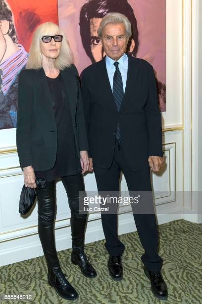 Betty Catroux and Francois Catroux attend the Opening Party at Yves Saint Laurent Museum as part of the Paris Fashion Week Womenswear Spring/Summer...