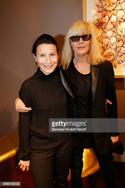 Betty Catroux and her daughter Daphnee Catroux attend Monsieur Dior Il etait une fois book signingin Galerie Passebon on October 2 2014 in Paris...