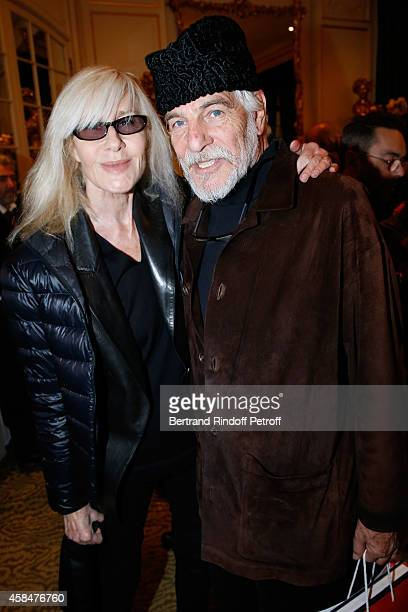 Betty Catroux and husband of Loulou de la Falaise, Thadee Klossowski de Rola attend the 'Loulou de la Falaise' book signing. Held at the Fondation...