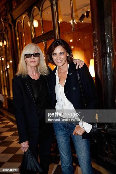 Betty Catroux and Ines de la Fressange attend Monsieur Dior Il etait une fois book signingin Galerie Passebon on October 2 2014 in Paris France