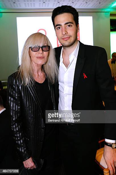 Betty catroux and JeanVictor Meyers Bettencourt attend the Sidaction Gala Dinner 2014 at Pavillon d'Armenonville on January 23 2014 in Paris France