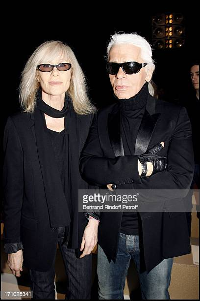 Betty Catroux and Karl Lagerfeld Dior masculine fashion show fall winter 20072008