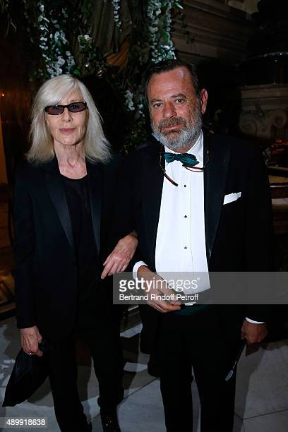 Betty Catroux and Louis Benech attend the Ballet National de Paris Opening Season Gala at Opera Garnier on September 24 2015 in Paris France
