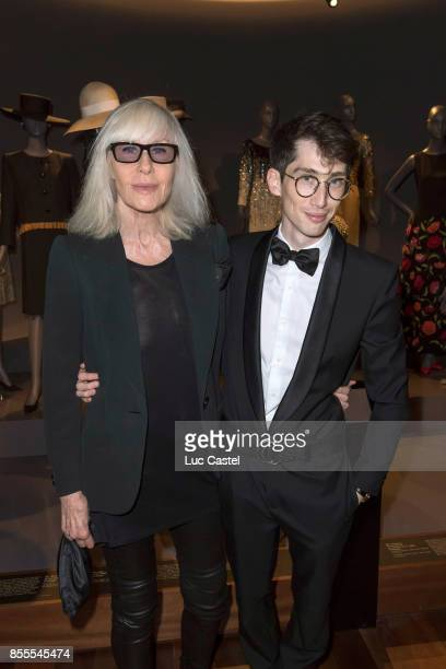 Betty Catroux and Olivier Flaviano attend the Opening Party at Yves Saint Laurent Museum as part of the Paris Fashion Week Womenswear Spring/Summer...
