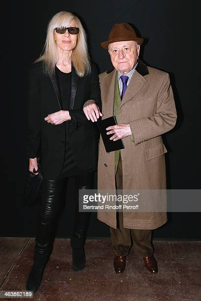 Betty Catroux and Pierre Berge attend the Saint Laurent Menswear Fall/Winter 20142015 Show as part of Paris Fashion Week on January 19 2014 in Paris...